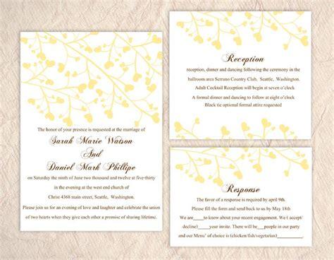 printable wedding invitation suites printable wedding invitation suite printable invitation