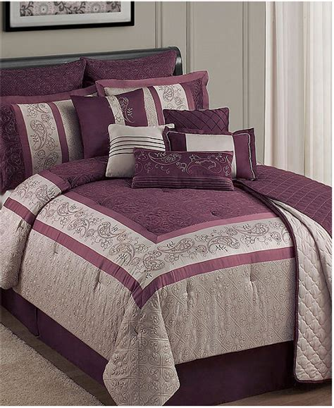 royal purple bedding fairview 12 piece queen comforter set royal purple ebay