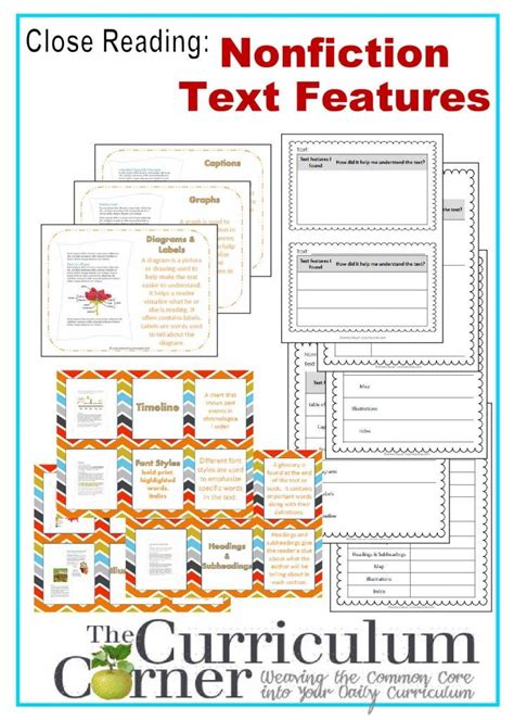 html non printable text nonfiction text features worksheet 4th grade free