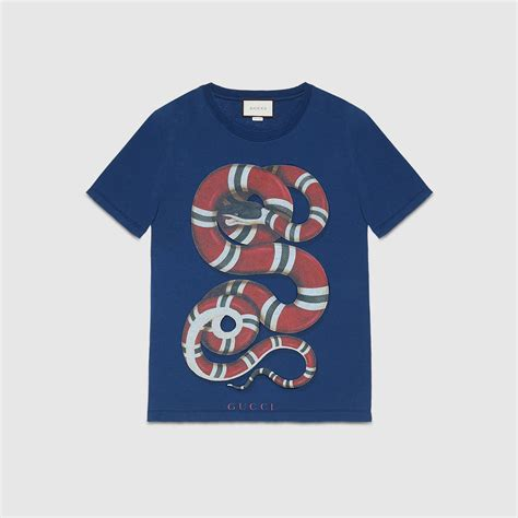 Shirt With Print washed t shirt with snake print gucci s t shirts