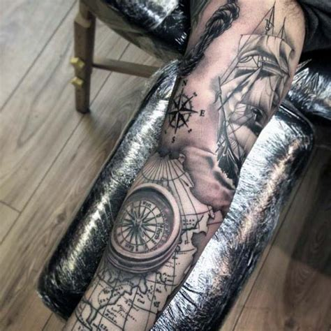 nautical tattoo ideas for men 40 nautical sleeve tattoos for seafaring ink deisgn