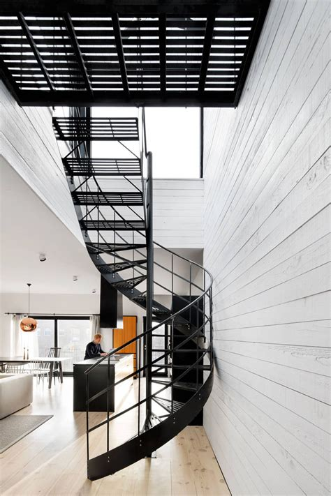 Bright Homes by 16 Modern Spiral Staircases Found In Homes Around The World Contemporist