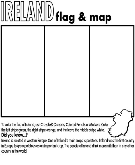ireland coloring pages ireland crayola ca