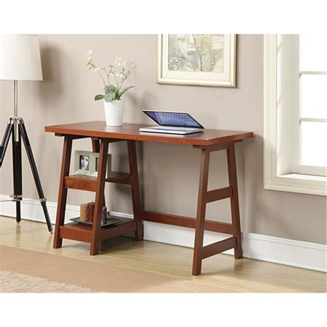 convenience concepts designs2go trestle desk designs2go cherry trestle desk convenience concepts desks