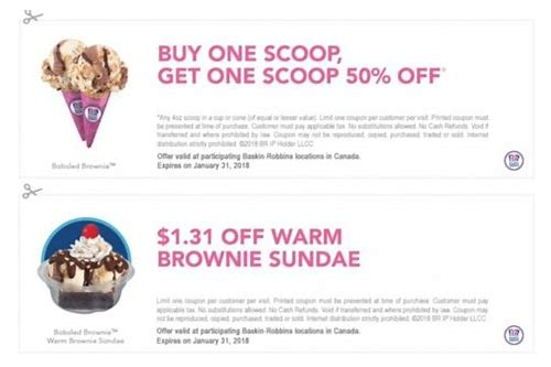 baskin robbins coupon march 2018