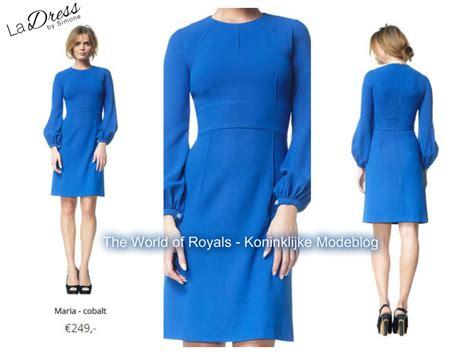 La Dress koninklijke modeblog koningin maxima in blauw jurkje