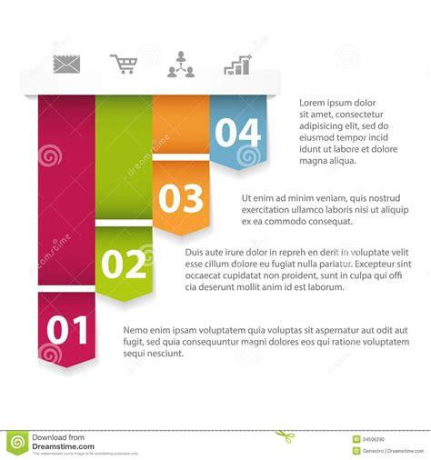 on the template sle modern infographics template stock photo image 34506290