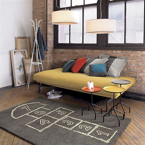 cb2 hopscotch rug skip out the door with this hopscotch rug