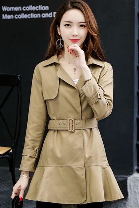 Ready Stock Import Coat 17296 trench coat wanita korea style beige trench coat jyr95302 coat korea