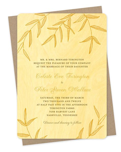 Bamboo Paper Wedding Invitations by Wispy Bamboo Invitation Invitations Wedding 171