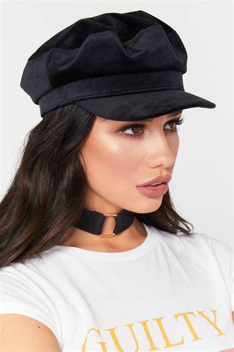 Boy Hat shannon black velvet baker boy hat