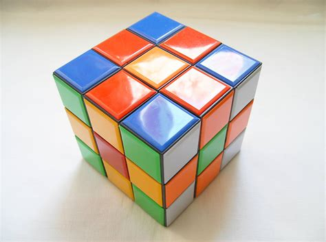 pattern of magic cube tiled giant magic cube