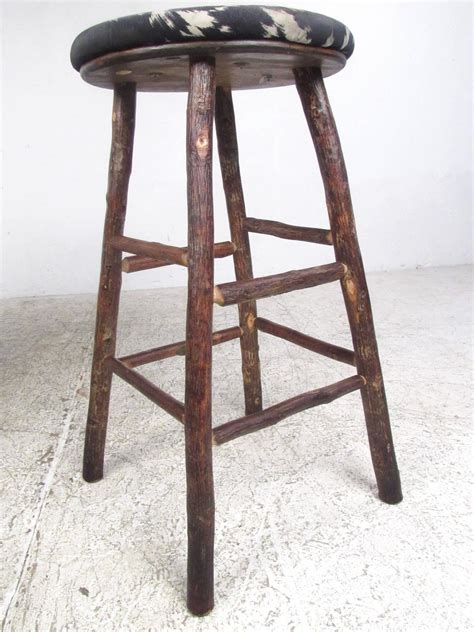 rustic hickory bar stools set of four vintage rustic bar stools by old hickory for sale at 1stdibs