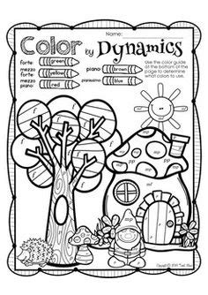 music dynamics coloring pages music worksheets on pinterest music worksheets music