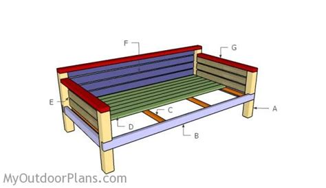 wood build a daybed pdf plans diy daybed plans myoutdoorplans free woodworking plans