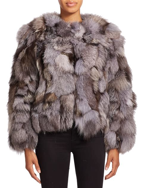 Cropped Fur Jackets by Cayle Cropped Fur Jacket In Gray Lyst
