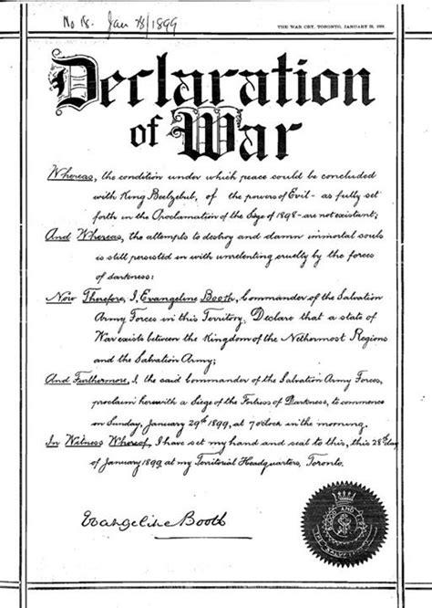 declaration of war salvation factory