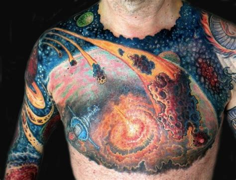 universe tattoo on chest 25 stunning space tattoos flavorwire