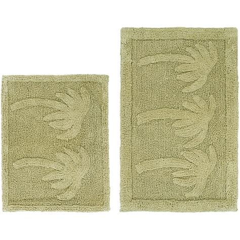 palm tree bathroom rugs celebration palm tree cotton 2 piece bath rug set 14029059 overstock com