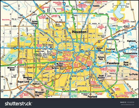 map of houston tx area houston map clipart 51