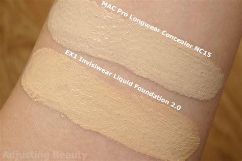 review  invisiwear liquid foundation  adjusting