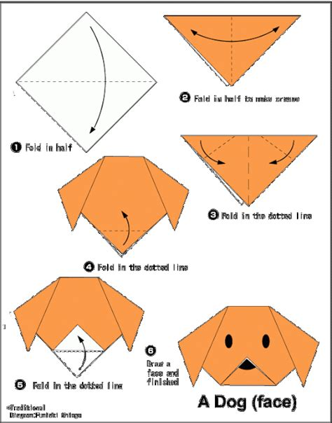 How To Make A Origami Puppy - easy origami for summer