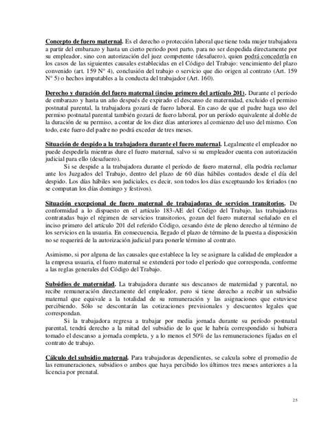 Muerte Maternal Disaster Celana Cargo manual legislacion laboral