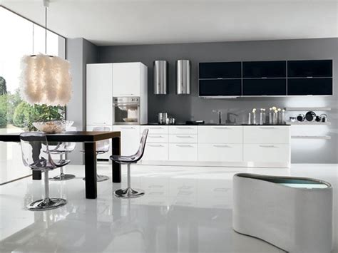 black and white kitchen decorating ideas modern lacquer black and white kitchen design ideas by arredissima futuristic dining room