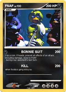 Pok 233 mon fnaf 39 39 bonnie suit my pokemon card