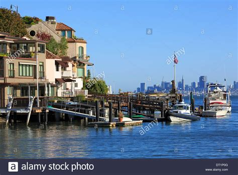 buy house in california usa waterfront homes in tiburon marin county california united states stock photo