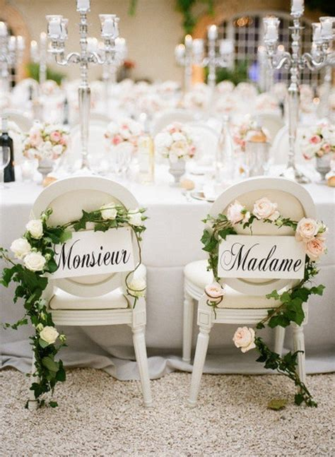 12 Chic Bride and Groom Wedding Chair Decoration Ideas
