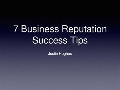 7 Tips On Using For Business by 7 Business Reputation Success Tips