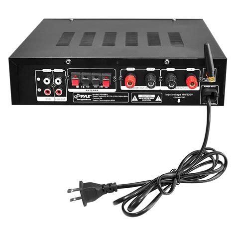 Lu Disco Speaker Melalui Flashdisk Usb Mmc Remote Kg338 pyle 174 pda5bu bluetooth stereo 200w lifier am fm usb aux receiver