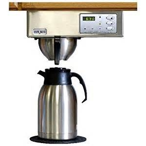 Brewmatic built in coffee maker digital controls brushed stainless