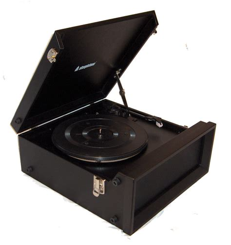 Black Records Steepletone Srp1r 11 70 S Style Record Player With Radio Black