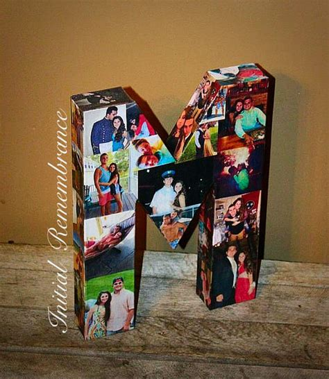Gift Ideas Beginning With Letter N 3d picture frame photo letter collage gift children s