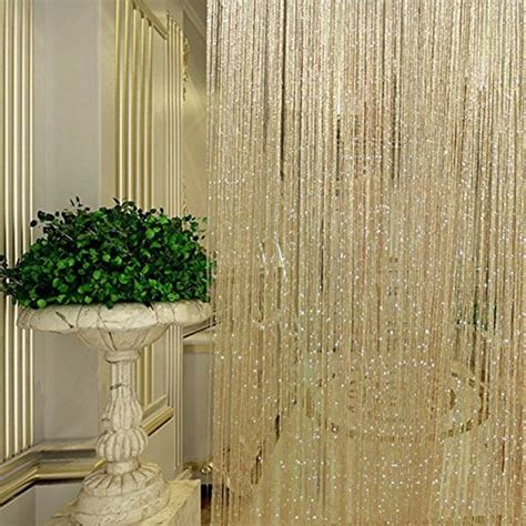 privacy beaded curtains door curtain string thread fringe hanging panel window