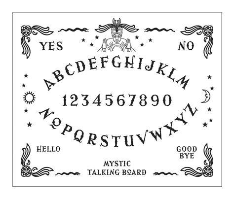 printable a4 ouija board ouija board hand embroidery sler 2 x patterns pdf file