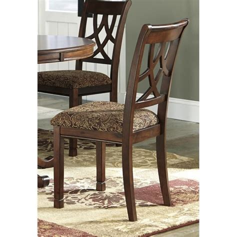 ashley leahlyn upholstered dining chair  medium brown
