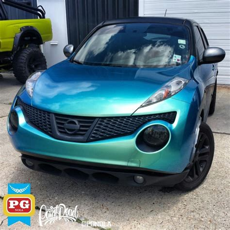 green nissan juke finally near completion of da juke wrap the chameleon