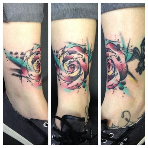 abstract rose tattoo abstract watercolor tattoos by