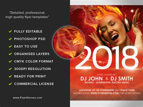 free new years flyer template free new year s flyer template