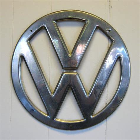 vintage vw bus chrome hood emblem