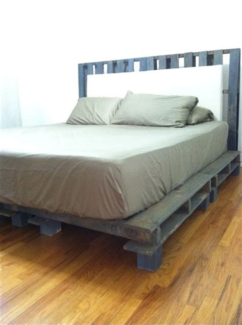 pallet bed frame diy 34 diy ideas best use of cheap pallet bed frame wood