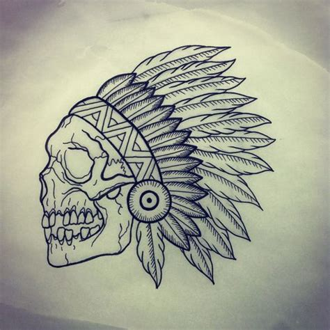 indian tattoos tumblr indian skull indian skull