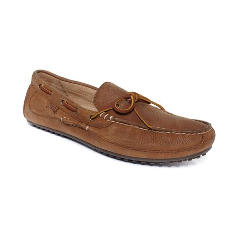 ralph loafers polo ralph wyndings slip on loafers in brown for