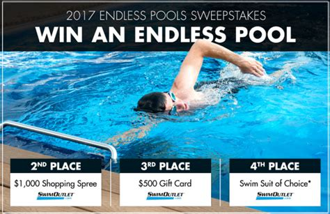 Postal Mail Sweepstakes 2017 - win a swimming pool in the endless pools sweepstakes