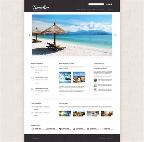 website templates for travel agency travel agency responsive website template 53865