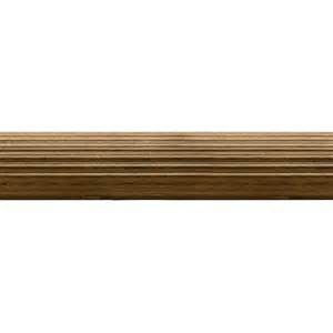 shop allen roth tobacco wood single curtain rod at lowes com