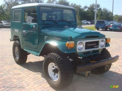 1981 Toyota Land Cruiser Green Metallic 1981 Toyota Land Cruiser Fj40 Exterior